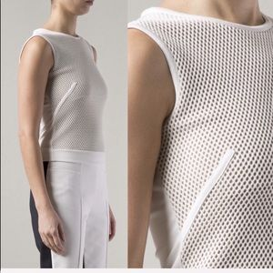 • AKRIS punto • Mesh Front Jersey Top Natural
